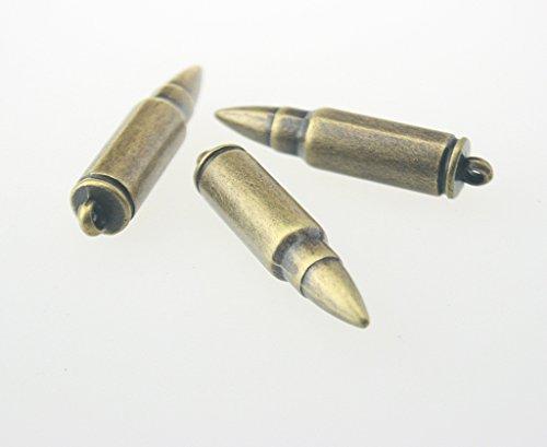 Sp Antique Brass (10 pcs.Zinc Antique Brass Ammunition Bullet Decorations Findings 8x36)