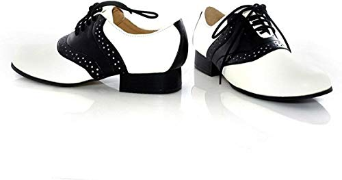 Ellie Shoes - Saddle (Black/White) Child Shoes, Black/White, Small (11-12)
