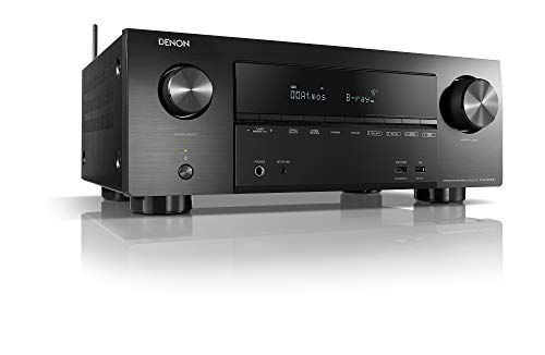 Denon AVR-X2600H, 7.2-Kanaals Av-Receiver, Hifi Versterker, Alexa Compatibel, 8 HDMIi-Ingangen En 2 Uitgangen, Bluetooth…