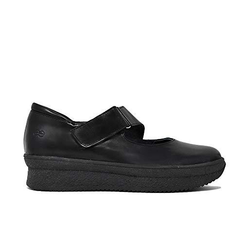 Negro Confort Zapato En Confort Piel En Zapato Piel qUn0wH
