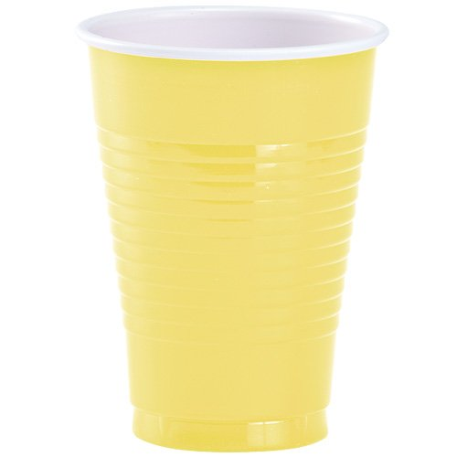 Party Dimensions 81332 20 Count Plastic Cup, 12-Ounce, Yellow