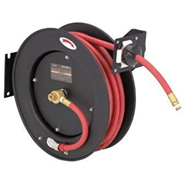 Central Pneumatic 50 Ft. Retractable Air/Water Hose Reel with 3/8  Hose by Central Pneumatic