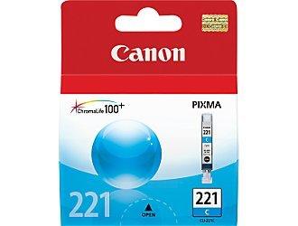 Canon 221 OEM Ink Tank: Cyan CLI-221C