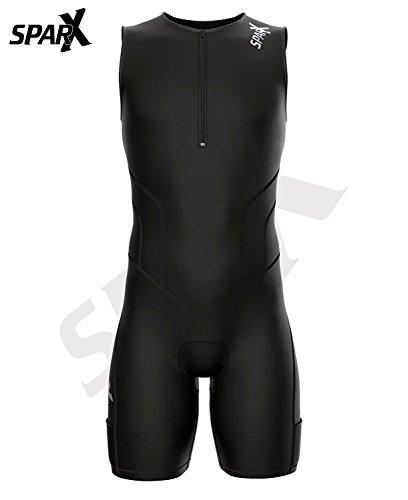 Sparx X Triathlon Suit Men Racing Tri Cycling Skin Suit Bike Swim Run (Black, 3XL) by Sparx Sports (Image #2)