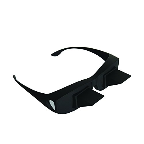 Evelots Prism Bed Glasses-Read/Watch TV-Horizontal-Unisex-Use Over Your Glasses