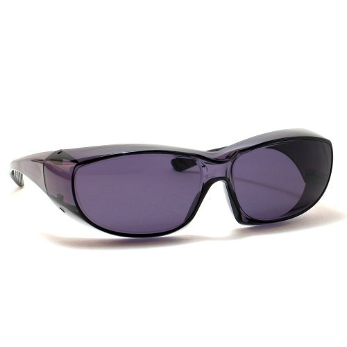 Calabria 6000 Large Fit-Over Safety Glasses UV Protection in Smoke by Calabria