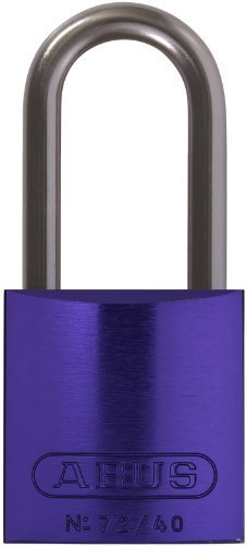 ABUS 72HB/40-40 KD Safety Lockout Aluminum Keyed Different Padlock with 1-9/16-Inch shackle, Purple by ABUS