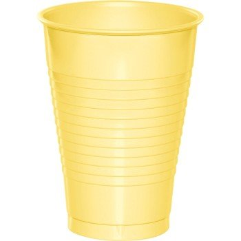 Premium 12 oz Plastic Cups, Yellow