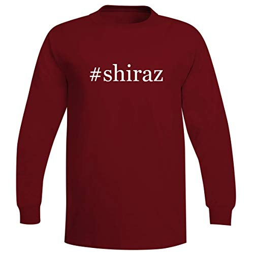 Pinotage Red Wine - #Shiraz - A Soft & Comfortable Hashtag Men's Long Sleeve T-Shirt, Red, Large