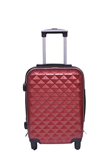 Times Bags 9TB4W 23 Inch ABS Hard Red Check in Luggage