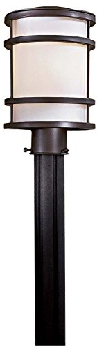 Minka Lavery 9806-143 1-Light Outdoor Post Mount, Oil Rubbed Bronze Finish