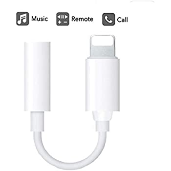 60fa9854fa1 3.5mm Headphone Jack Adapter [Updated Version] Connector for iPhone Xs/Xs  Max/XR/iPhone 8/8 Plus/X (10) / 7/7 Plus, iPad and More, Music Control &  Calling ...