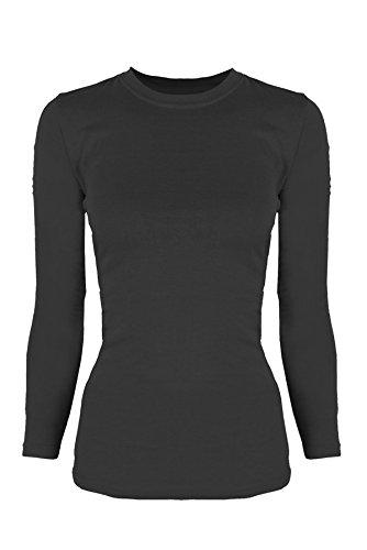 G2 Chic Women's Long Sleeve Crewneck Layer T-shirt for Medical Scrubs
