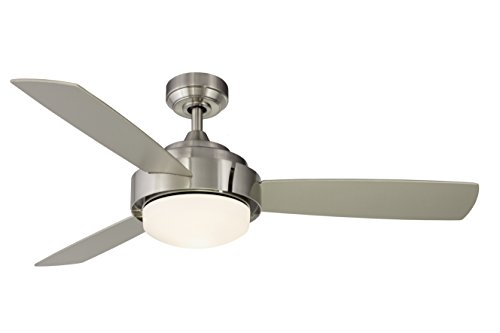 Fanimation Studio Collection LP8081LBN Coop Ceiling Fan - Brushed Nickel with Light Kit ()