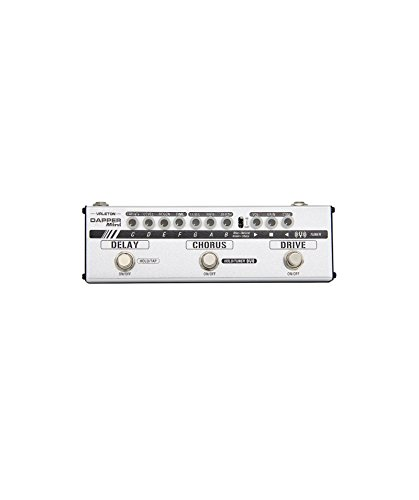 Valeton Dapper Mini Multi-effect Pedal with Overdrive Distortion Tuner Chorus Delay with Tap Tempo for Electric Guitar, Phones Jack with Cab Sim