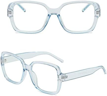 Anti Blue Light Oversized Frame Square Carré Anti-Blu-Ray Radiation Optical Glasses Lens Flat Flat Eyeglasses Blue