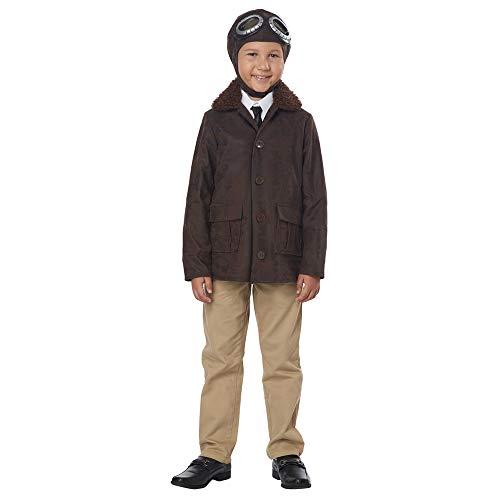 California Costumes American Aviator Child Costume, Brown,