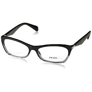 Prada Women's PR 15PV Eyeglasses Black Gradient Transparent 55mm