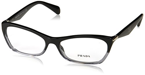 Prada Women's PR 15PV Eyeglasses Black Gradient Transparent 55mm