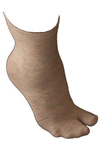 Ninja Tabi calcetines del dedo del pie V - gris (talla 7-11 ...