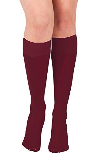 KMystic Womens Trouser Socks Knee High Burgundy, One Size (Knee High Burgandy Socks)