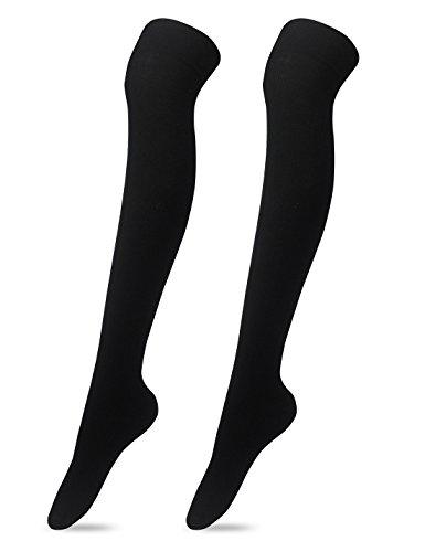 - Women's Over The Knee High Socks(Black)