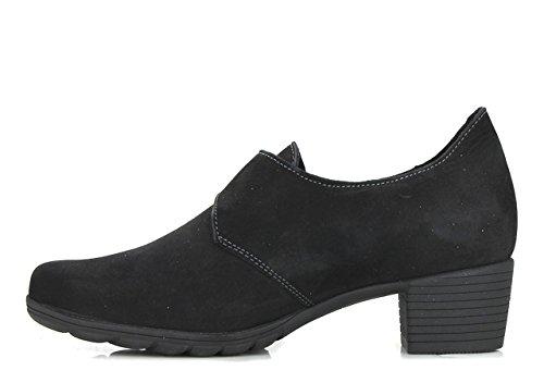 de Mujer Vestir Piel de Mephisto Zapatos Vuelta Negro RHfq8x