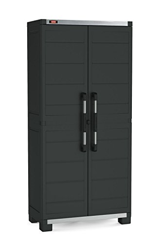 nding Durable Resin Plastic Utility Tall Cabinet with Adjustable Shelving, Black (Tall Garage Doors)