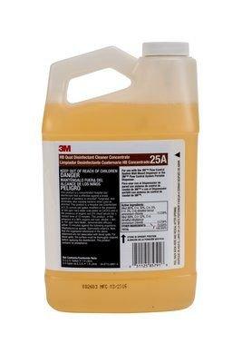 (-3M- HB Quat Disinfectant Cleaner Concentrate 25A, 0.5 Gallon)