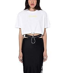 Marcelo Burlon Women S Cwaa043s190011720188 White Cotton T Shirt