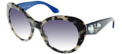 Prada Women's 0PR 26QS White Havana/Clear Gradient Blue
