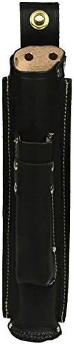 SK11 革製 溶接棒ケース 仕切り付き 差金ホルダー付き SHBL-10