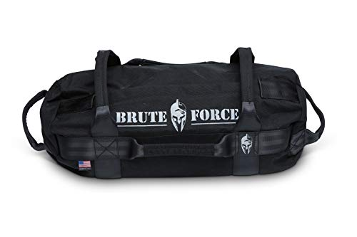 Heavy Bag Workouts - Brute Force Sandbags - Mini Sandbag - Black - Heavy Duty Sandbag Crossfit Workout Equipment Weighted Bags Heavy Sand Bags Military sandbags