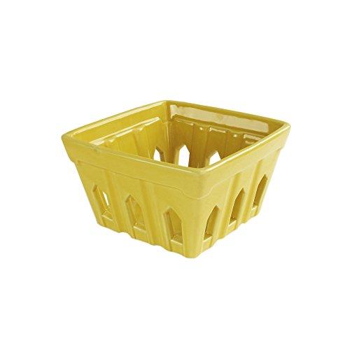 yellow ceramic berry basket - 3