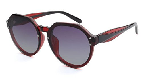 Party Shopping Lady Sol Red Travel Christmas Redonda Montura MSNHMU Gafas De Gifts Con Ow4TnqHS