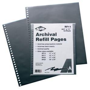 Prestige Presentation Case Refill Pages- 8.5x11 Inch 10-Pack Alvin