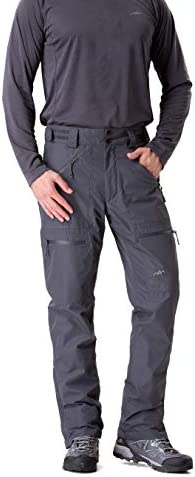 TRAILSIDE SUPPLY CO. Mens-Ski-Snow-Snowboard-Pants, Wind/Waterproof, Insulated