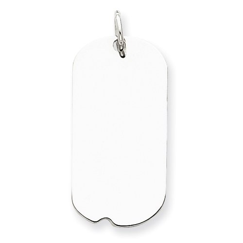Sterling Silver Engraveable Dog Tag Disc Charm - JewelryWeb
