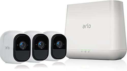 Arlo Pro – Wireless Home Security Camera System with Siren Rechargeable, Night vision, Indoor Outdoor, HD Video, 2-Way Audio, Wall Mount Cloud Storage Included 3 camera kit VMS4330
