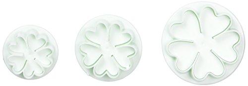 Ostart 3x 5-petal Flower Fondant Cake Biscuit Sugarcraft Plunger Cutter Craft Mold Tool