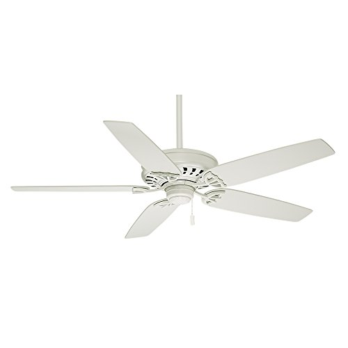 Casablanca Indoor Ceiling Fan, with pull chain control - Concentra 54 inch, White, 54019