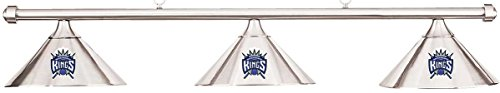 NBA Sacramento Kings Chrome Metal Shade & Chrome Bar Billiard Pool Table Light by Imperial