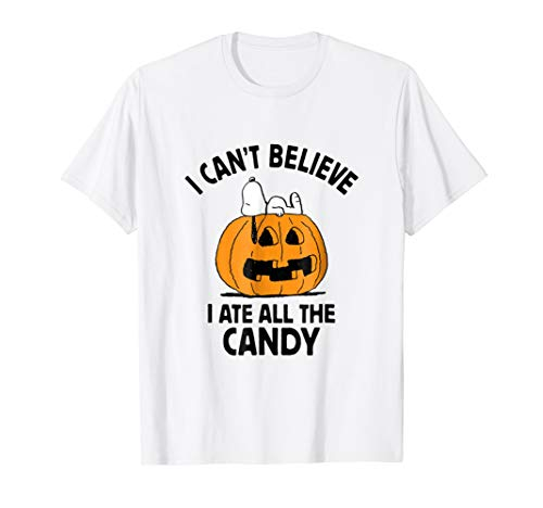 Peanuts Halloween Snoopy All The Candy T-Shirt -