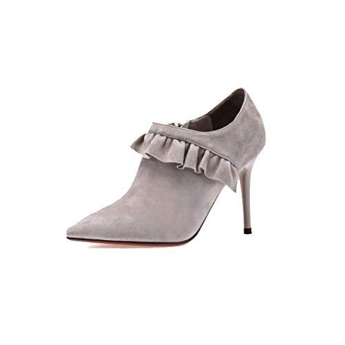 Mode Confort Mattes Pointues Femmes Zpedy Pour Hauts Gray Talons Chaussures Portable P8qpxOZW0