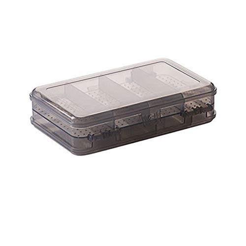 Yiwanjia◕ᴗ◕ 10 Grid Double-Layer Jewelry Display Storage Box Plastic Organizer Container Desktop Earrings Organizer Box Ring Necklace Bracelet Storage Container (Black ◕ᴗ◕) (Glasslock Food Storage Container Set 20 Piece)