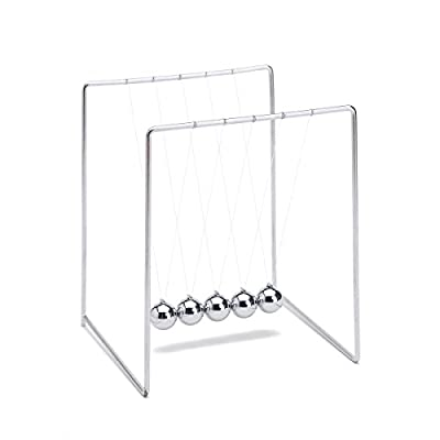 THY COLLECTIBLES Unique Stainless Steel Newtons Cradle Balance Balls 5.5 inch Desk Top Decoration Kinetic Motion Toy for Home and Office: Toys & Games