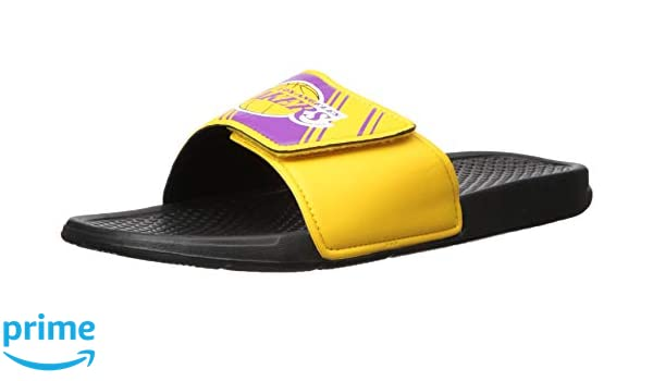 fd062d546ace Forever Collectibles NBA Team Logo Mens Legacy Sport Slide Flip Flop Sandals