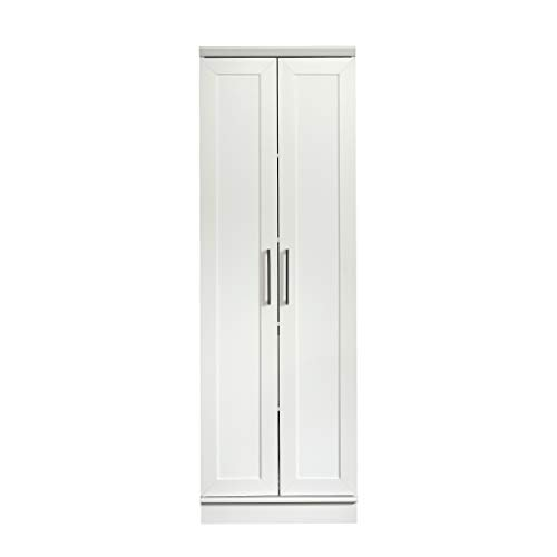 "Sauder 422425 HomePlus Storage Cabinet, L: 23.31"" x W: 17.01"" x H: 70.91"", Soft White finish"
