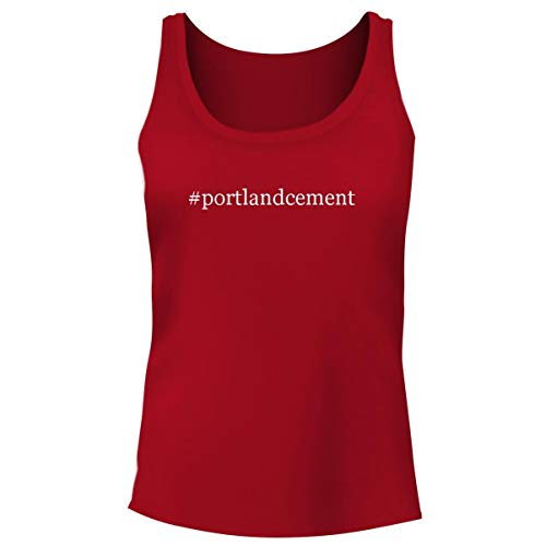 (One Legging it Around #Portlandcement - Women's Hashtag Funny Soft Tank Top, Red, XX-Large)
