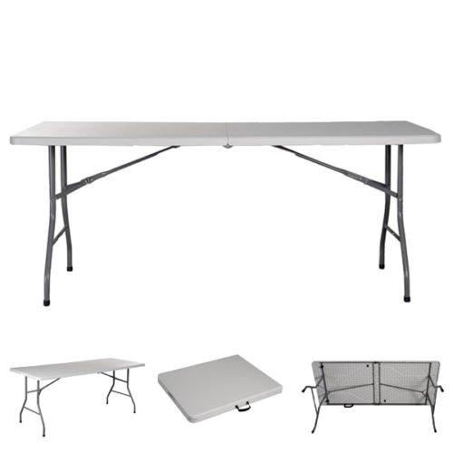 6 ' Foldingテーブルポータブルプラスチックインドアアウトドアピクニックキャンプパーティーダイニングテーブル B073ZD2SRQ